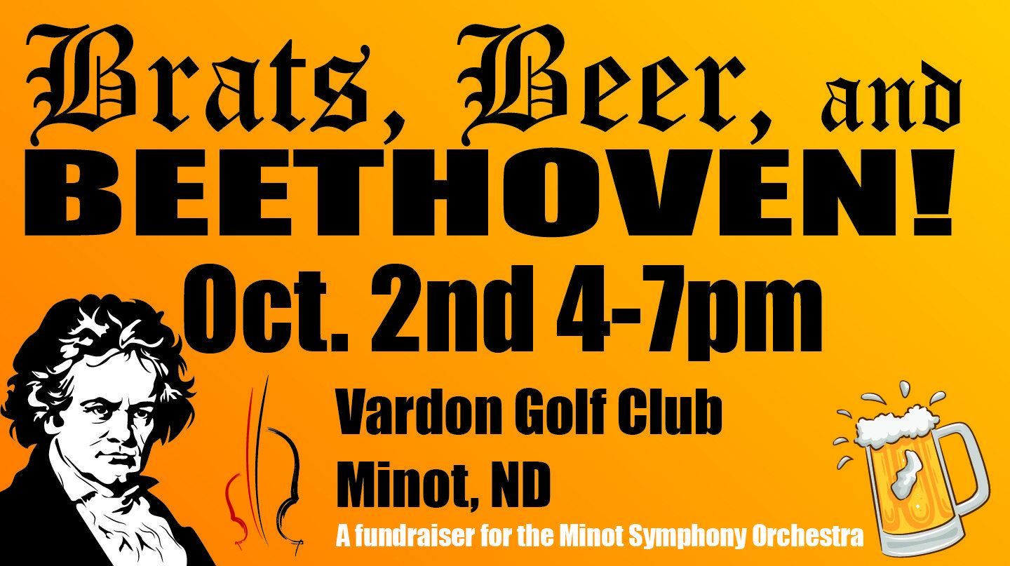 Brats, Beer, and Beethoven Oct. 2nd 4-7pm